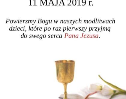 11 maja Uroczystości I Komunii Świętej