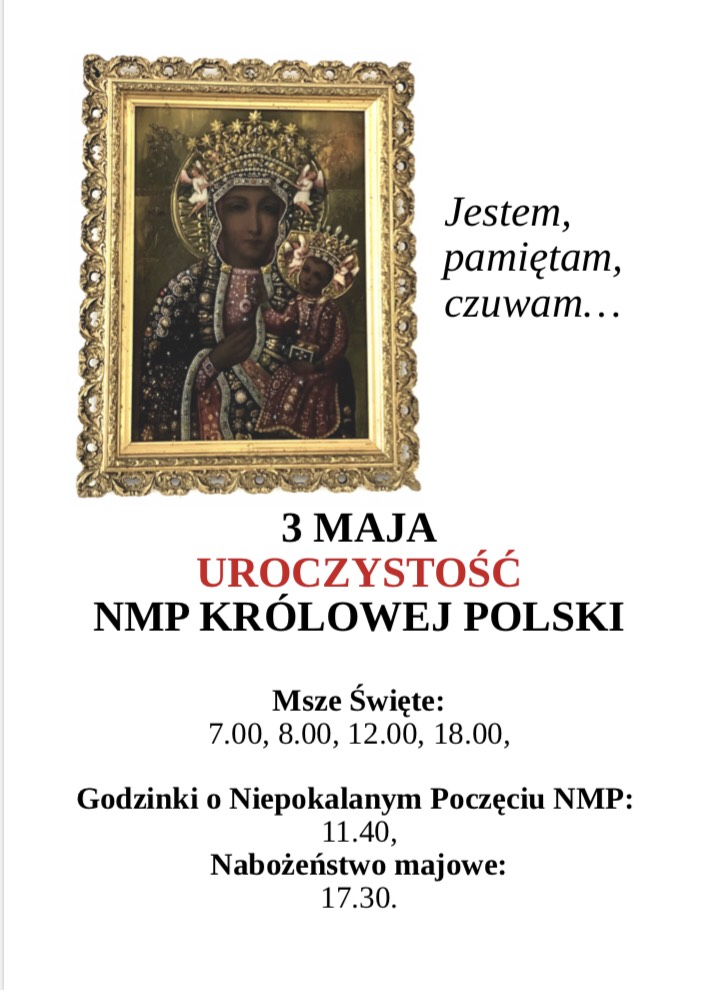 3 maja Uroczystości NMPKrólowej Polski