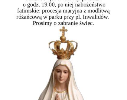 13 maja Wspomnienie Objawienia matki Bożej w Fatimie