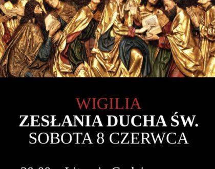 8 czerwca - Wigilia zesłania Ducha św.